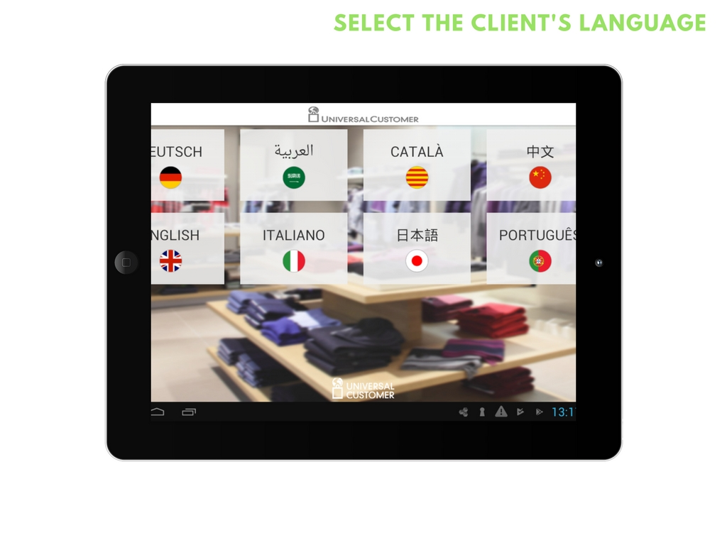 select the client´s language