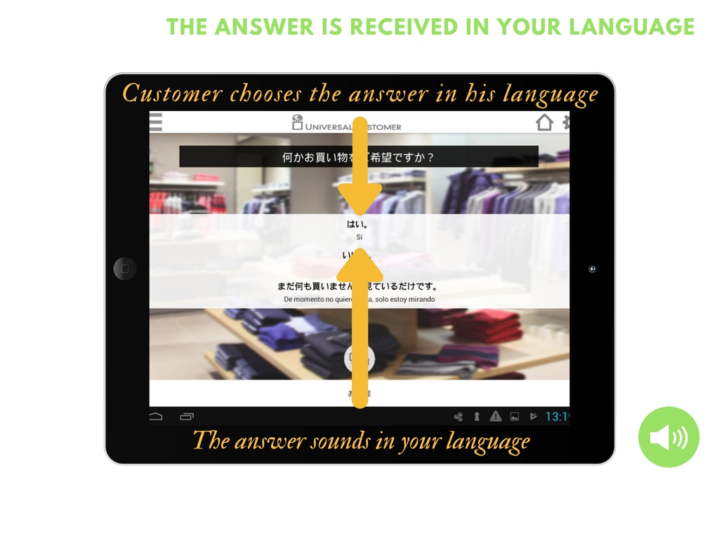 answer of the client in your language